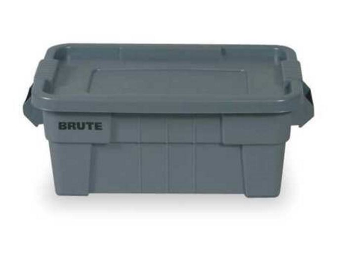 Rubbermaid 9s30 Brute Tote With Lid 14 Gallon Gray