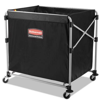Rubbermaid 1881750 Collapsible X-Cart, Steel 8 Bushel Cart