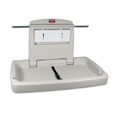 Rubbermaid 7818-88 Sturdy Station 2 Baby Changing Table - Platinum