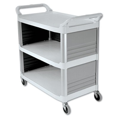 Rubbermaid 4093 Xtra Utility Cart 300-lb Cap. 3 Shelves - Off-White