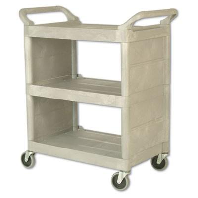 Rubbermaid 3355-88 Utility Cart 3 Shelves 300-lb Capacity