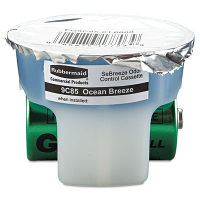 Rubbermaid 9C85-01 SeBreeze Fragrance Cassette 6/Case - Ocean Breeze