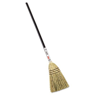 "Rubbermaid 6373 Lobby Corn-Fill Broom, 38"" Handle"