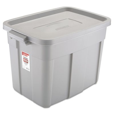Rubbermaid 2215 Roughneck Storage Box 18 Gallon Gray Storage