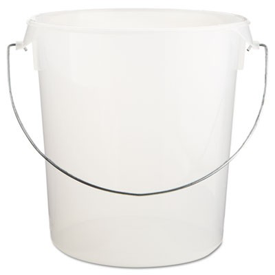 Rubbermaid 5729-24 Round Storage Container, w/Bail, 22qt - Clear