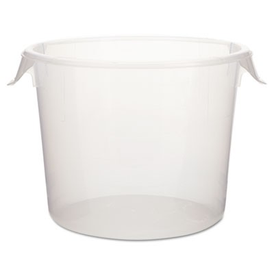 Rubbermaid 5723-24 Round Storage Container, 6qt Case/12- Clear