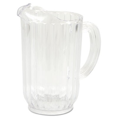 Rubbermaid 3339 Bouncer Plastic Pitcher, 72 oz - Clear