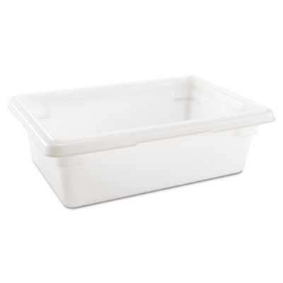 Rubbermaid 3509 Food/Tote Box, 3.5 gal - White