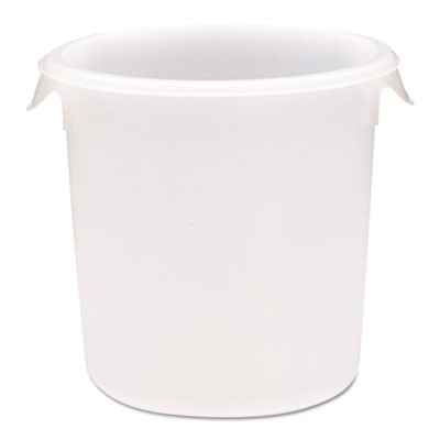 Rubbermaid 5724 Round Storage Container, 8qt - White