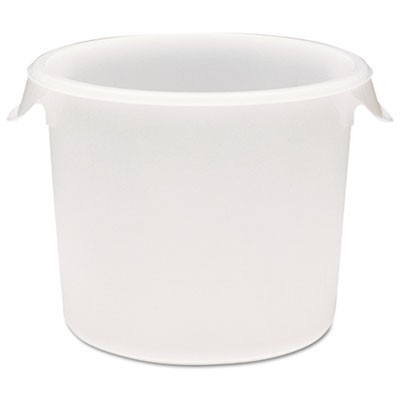 Rubbermaid 5723 Round Storage Container, 6qt - White