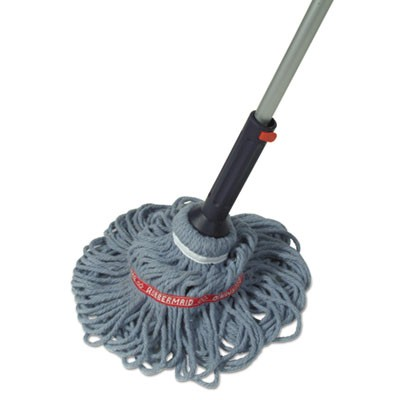 "Rubbermaid 1809375 Twist Mop, Self-Wringing, Blended Yarn Head, 56"" Handle - Blue"
