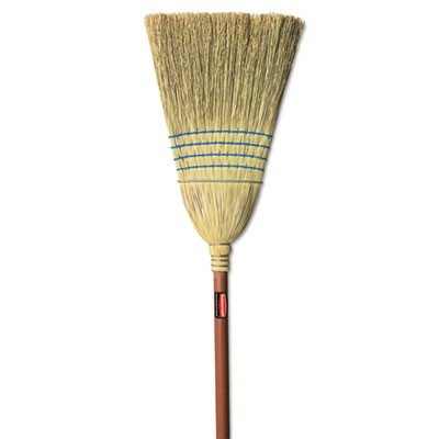 Rubbermaid 6383 Warehouse Corn-Fill Broom, 38-in Handle - Blue