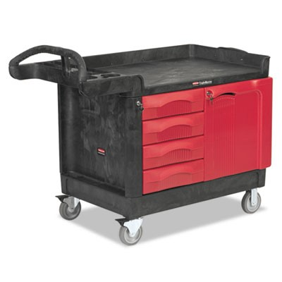 Rubbermaid 4533-88 TradeMaster Cart with 4-Drawer and Cabinet