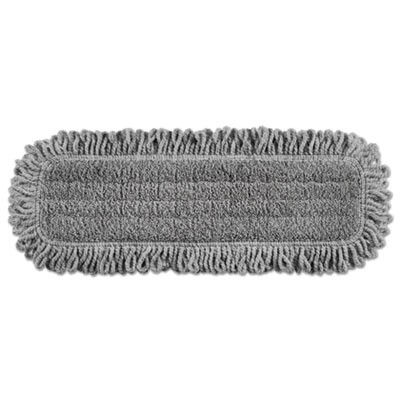 "Rubbermaid 1867397 Pulse Single-Sided Microfiber Dust Mop Head, 18"" 6/Case - Gray"