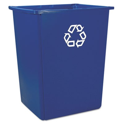 Rubbermaid 256B-73 Glutton Recycling Container 56 gal - Blue