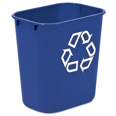 Rubbermaid 2955-73 Deskside Recycling Container 13 Quart