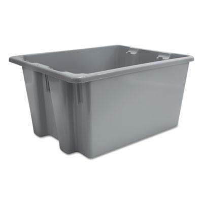 Rubbermaid 1721 Palletote Box 9.72 gallon 10 to a Case - Gray