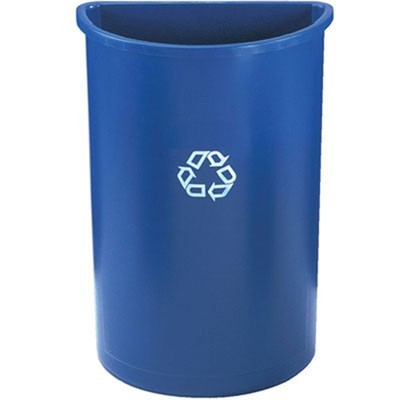 Rubbermaid 3520-73 Half-Round Recycling Container 21 gallon