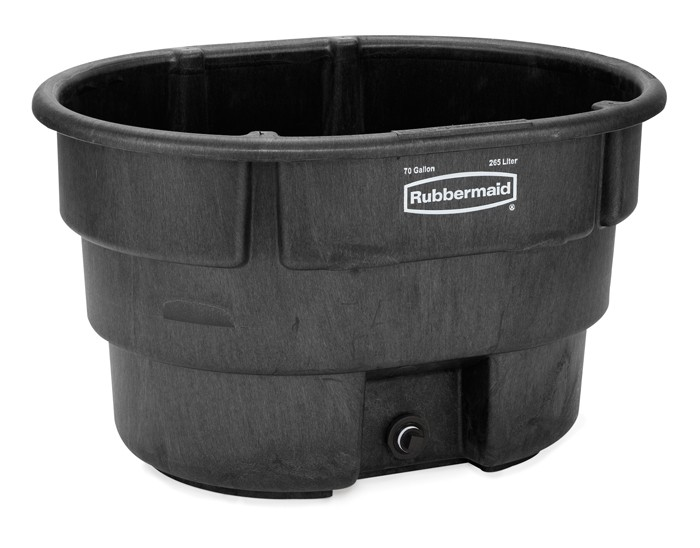 Rubbermaid 4244 Structural Foam Livestock Tank, 70 gallon