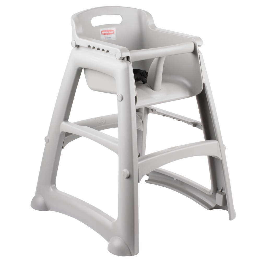 Rubbermaid 7814 08 Sturdy High Chair Assembly Required, W/o Wheels    Platinum   High Chairs   Food Service