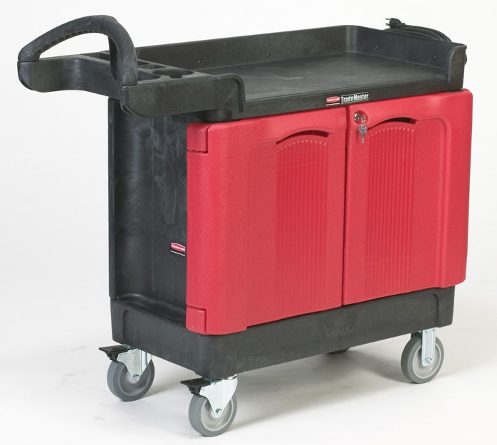 Rubbermaid 4512-88 TradeMaster Cart with 2 Door Cabinet
