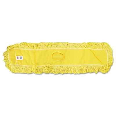 "Rubbermaid  J157 Trapper Commercial Dust Mop Looped-end 48"" - Yellow"