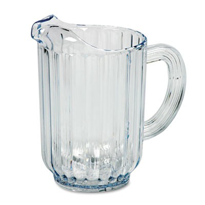 Rubbermaid 3338 Bouncer Plastic Pitcher 60-oz - Clear