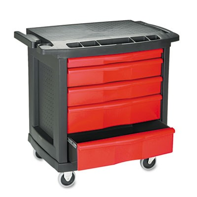 Rubbermaid 7734 Five-Drawer Mobile Work-Center