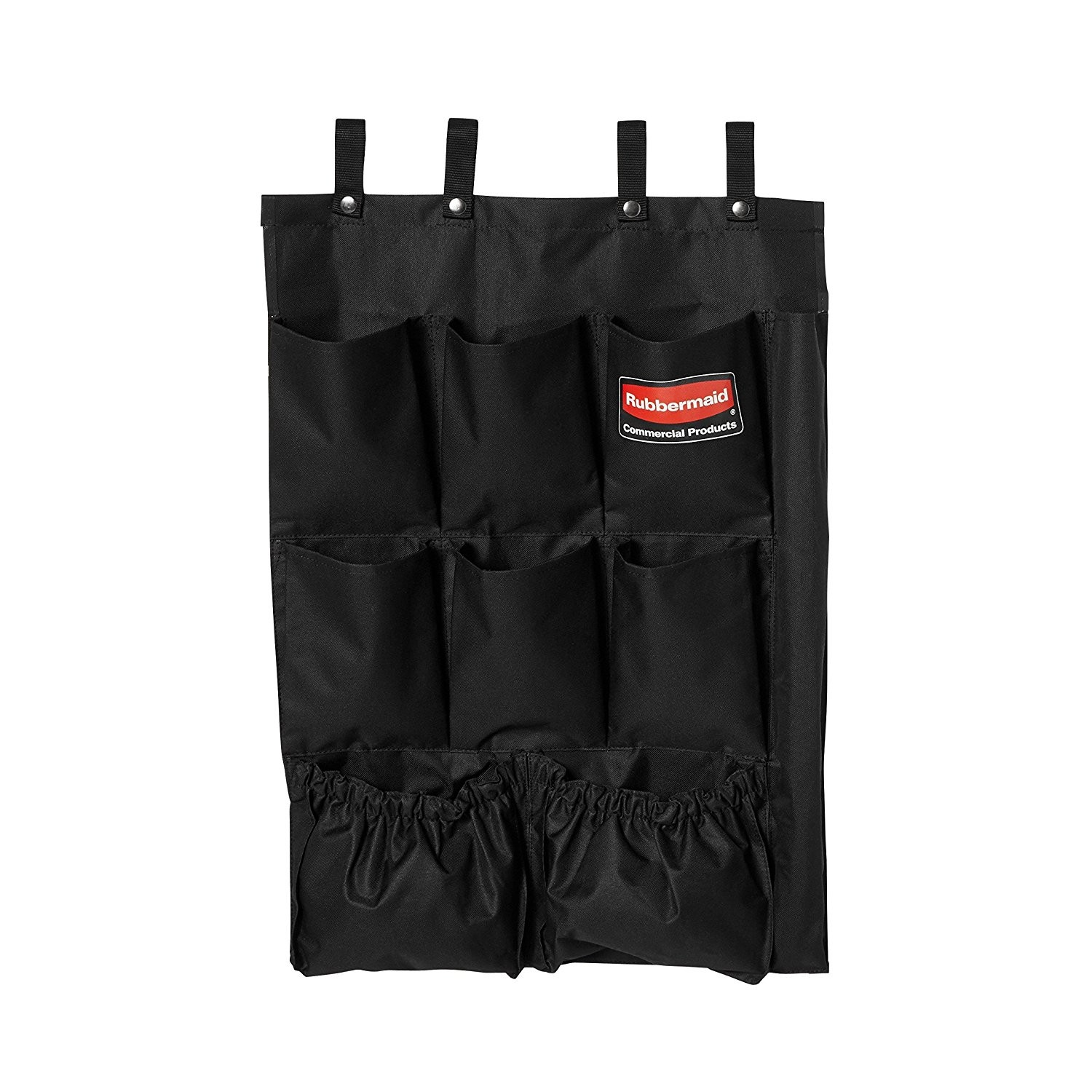 Rubbermaid 9T90 Janitor Cleaning Cart Fabric 9-Pocket Organizer - 6/Case