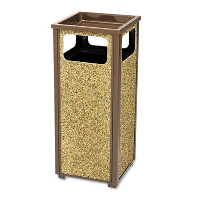Rubbermaid Aspen Outdoor Sand Urn/Litter Steel Receptacle 12 gallon - Brown