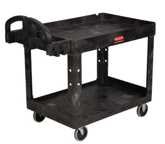 Rubbermaid 4520-88 Heavy-Duty Utility Cart - Black