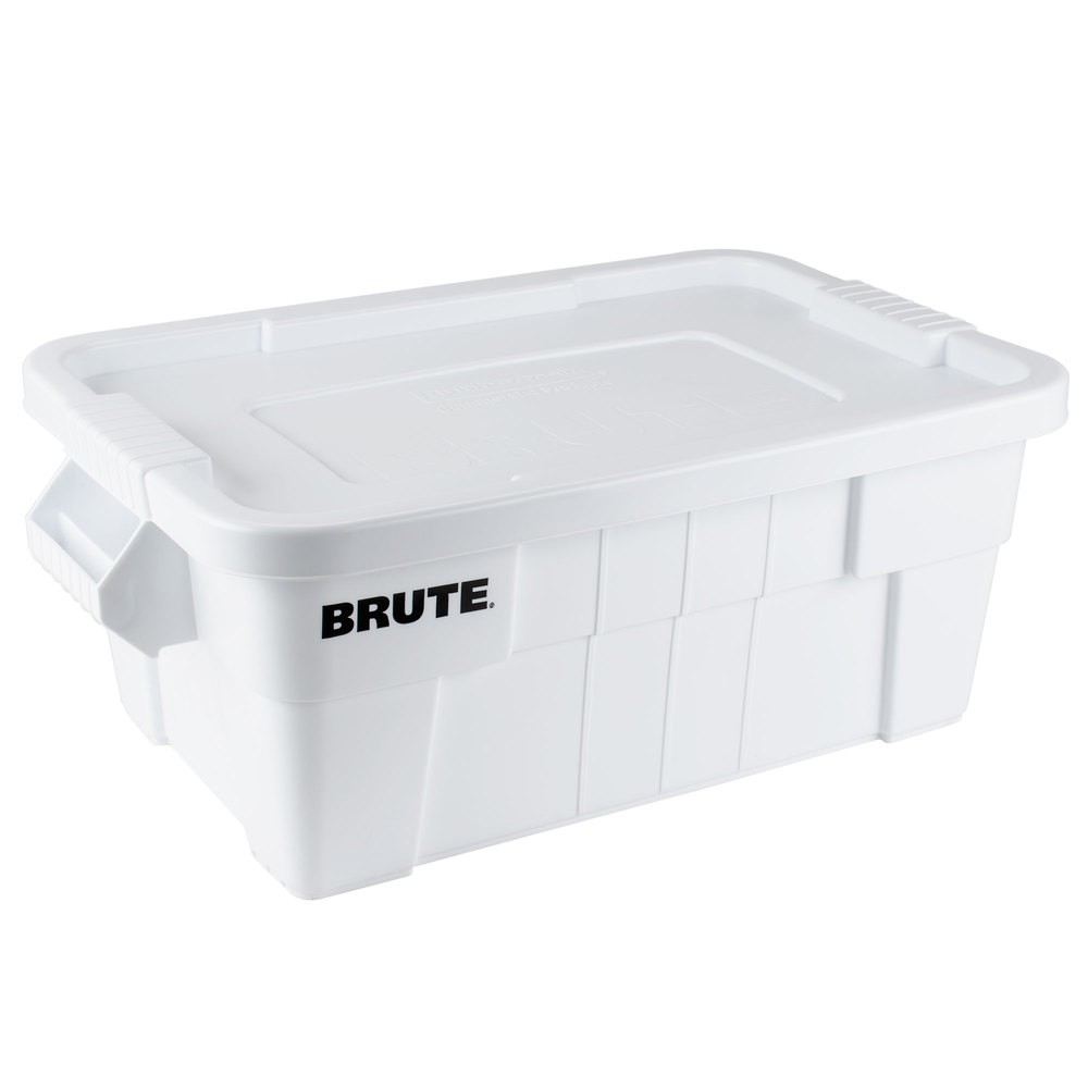 Rubbermaid 9S30 BRUTE Tote with Lid 14 Gallon - 6/Case - White - Storage Containers - Cleaning  sc 1 st  Rubbermaid Wholesale & Rubbermaid 9S30 BRUTE Tote with Lid 14 Gallon - 6/Case - White ...