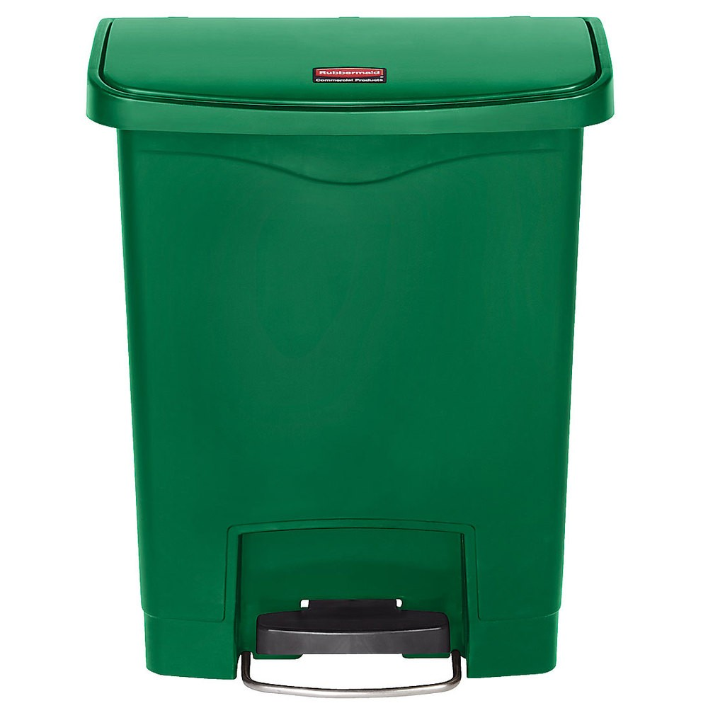Rubbermaid 1883582 Slim Jim Step On Container 8 Gallon