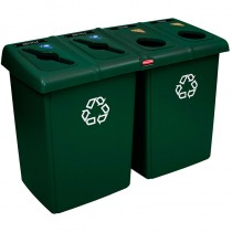 Rubbermaid 1792373 Glutton Recycling Station 92 gallon - Green