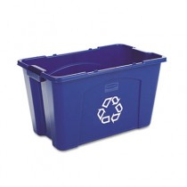 Rubbermaid  5718-73 Stacking Recycle Bin 18 gallon - Blue