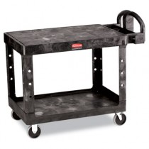 Rubbermaid 4525 Flat Shelf Utility Cart 2-Shelf - Black