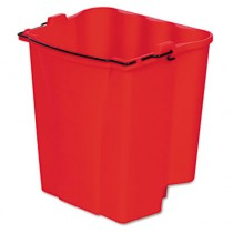 Rubbermaid 9C74 Dirty Water Bucket for Wavebrake Wringer 18-Qt - Red