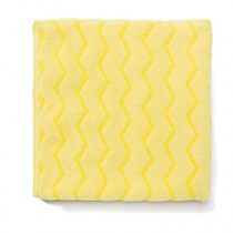 "Rubbermaid Q610 Reusable Cleaning Cloths Microfiber 16"", 12/Case - Yellow"