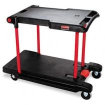 Rubbermaid 4300 Two Shelf Convertible Utility Cart