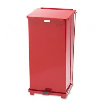 Rubbermaid ST24EPLRED Biohazard Steel Step Can 24 gal - Red