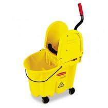 Rubbermaid 7577-88 Wavebrake 35-Quart Bucket/Wringer Combination - Yellow