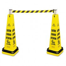 Portable Barricade System, Plastic - Yellow