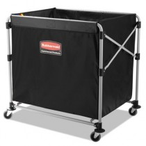 Rubbermaid 1881750 Collapsible X-Cart, Steel 8 Bushel Cart