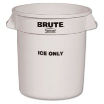 Rubbermaid 9F86 Brute Ice-Only Container, 10gal - White