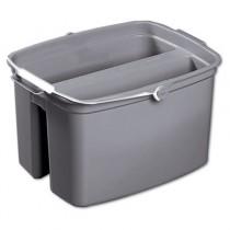 Rubbermaid 2617 17-Quart Double Utility Pail - Gray