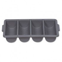 Rubbermaid 3362 Cutlery Bin Four Compartments - Gray