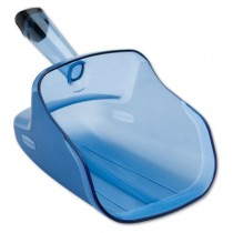 Rubbermaid 9F50 Hand-Guard Scoop, 74oz, Transparent Blue