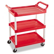 Rubbermaid 3424-88 Utility Cart 3-Shelf - Red