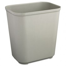 Rubbermaid 2543 Fire-Resistant Wastebasket Fiberglass 7 gallon - Gray