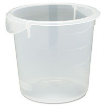 Rubbermaid 5721-24 Round Storage Container, 4qt CASE 12 - Clear